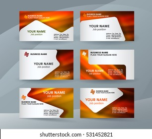 Abstract professional and designer business card template or clear and minimal visiting card set, name card purple background. Vector illustration EPS 10 for presentation slide banners