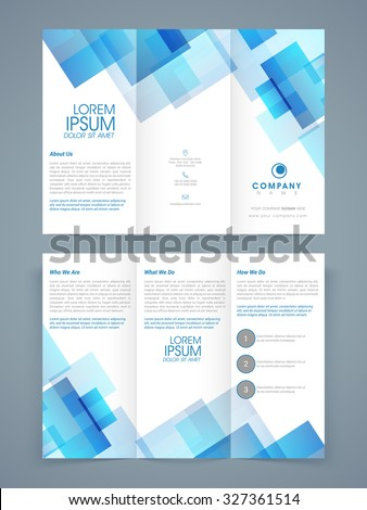 abstract professional trifold brochure template flyer stock vector