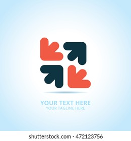 Abstract Progress logo, design concept, emblem, icon, logotype element for template.