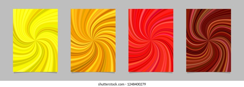 Abstract psychedelic striped spiral pattern brochure background - vector stationery template graphic designs