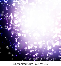 Abstract purple background with multiple light sparkles - eps10 vector