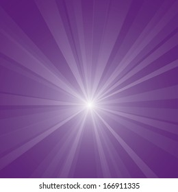 Abstract purple burst vector background.