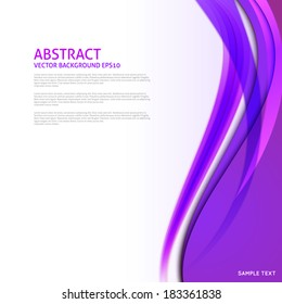 Abstract purple curves background - Design Template