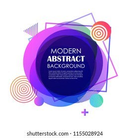 Abstract purple gradient geometric pattern design and background. Use for vector modern circle shape design, cover, template, minimal, brochure, flyer.