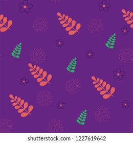 abstract purple pattern with flovers