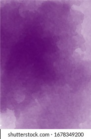 Abstract purple watercolor background. Lavender color, delicate postcard or invitation.