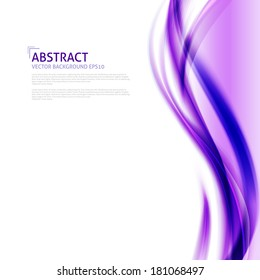 Abstract purple waves background - Design Template