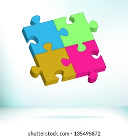 Abstract Puzzle. + EPS8 vector file