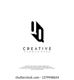 abstract QQ logo letter in shadow shape design concept
