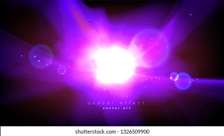 Abstract Quasar Effect in Vector
