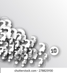 Abstract Question Mark Pattern Design.