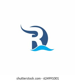 abstract R river logo