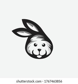 Abstract rabbit logo template vector - Eps 10
