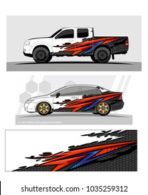 abstract Racing background graphic vector for car, truck and vehicles vinyl wrap