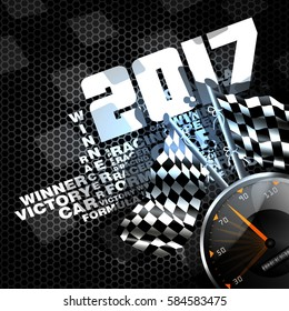 Abstract racing checkered background - 2017