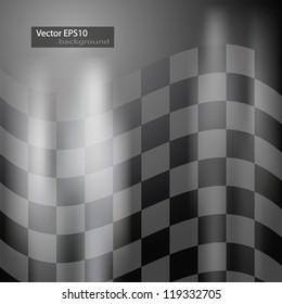 Abstract racing checkered background. EPS10 vector.