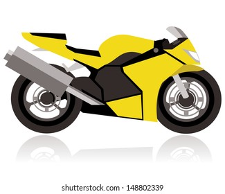 abstract racing motorcycle concept with big tires