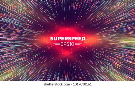 Abstract radial lines geometric background. Beams zoom concentric pattern. Explosion star. Motion effect. Starburst