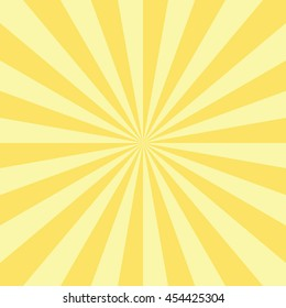 Abstract radial sun burst background. Retro style circular light scattered behind. Vector illustration.