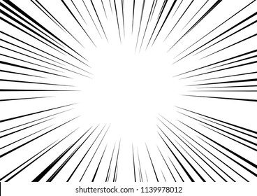 Abstract radial zoom speed light on black effect for cartoon comic book,Sun ray or star burst element