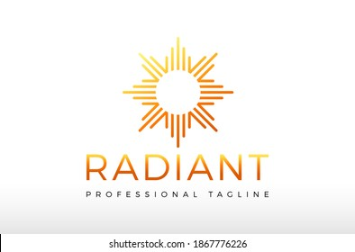 Abstract Radiant Energy Logo Design Vector Icon Illustrations.