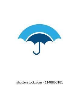 abstract rain umbrella protect logo vector