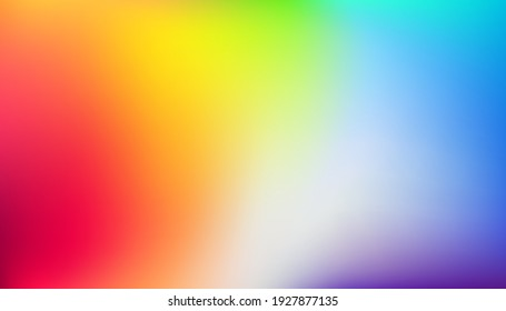 Abstract rainbow background. Blurred colorful gradient backdrop. Vector illustration for your graphic design, template, banner, poster or website