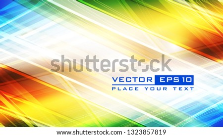 Abstract rainbow background lighting effect futuristic stock