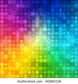 Abstract Rainbow Color Background for Retro Party Design. Vector illustration.