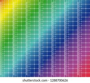 Abstract rainbow colorful diagonal mosaic pattern vector print
