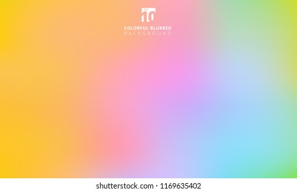 Abstract rainbow colorful smooth blurred gradient mesh background. Vector illustration