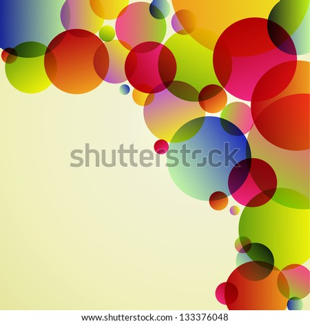 Abstract rainbow colors circle on white background