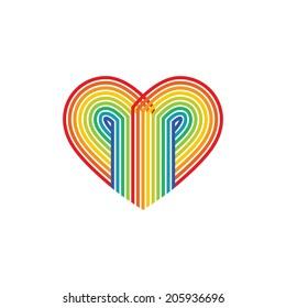 Abstract rainbow heart.