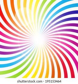 Abstract Rainbow Hypnotic Background Vector Illustration