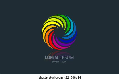 Abstract rainbow logo. Vector logotype design.