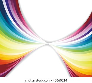 Abstract rainbow pattern. Vector illustration