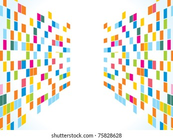 abstract rainbow squares background vector illustration