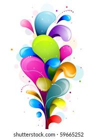 Abstract Rainbow Swirls - Vector