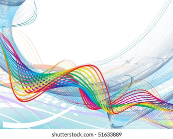 abstract rainbow wave line with space of your text, vector illustration