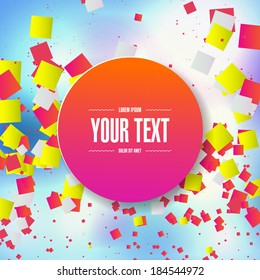 Abstract random colorful squares background design  Eps 10 stock vector illustration