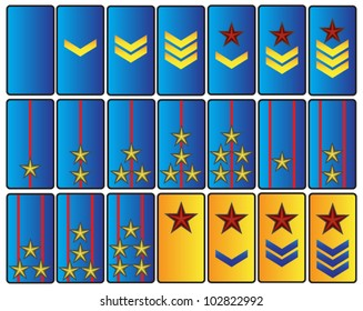 abstract rank insignia