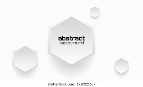 abstract realistic background with hexagon obeject
