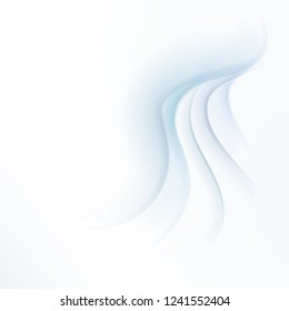 Abstract realistic three-dimensional waves on a white background similar to snow, cloth, liquid. Vector cross funtional (new year, business, seasonal, congratulatory) background.