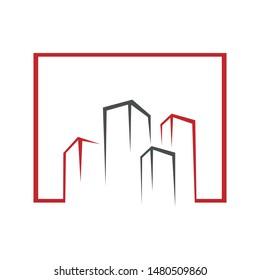 Abstract realty logo - Vector logo concept illustration. Abstract shape logo. Realty logo design