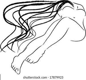 abstract reclining female shape