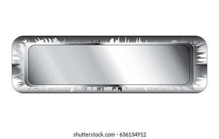 Abstract rectangle background with a silver frame, with space for your text. Vector illustration.