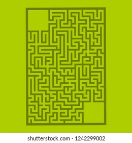 Abstract rectangular maze. Game for kids. Puzzle for children. Labyrinth conundrum. Flat vector illustration isolated on color background. With place for your image