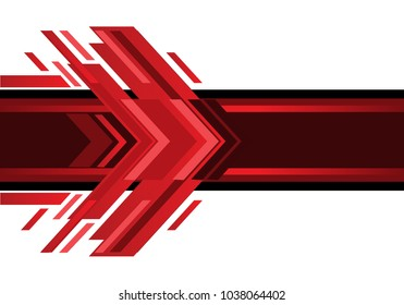 Abstract red arrow technology on white design modern futuristic background vector illustration.