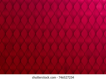Abstract Red Background with Capitone Texture. Vector Minimalistic Bg Design.