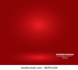 Abstract Red background Christmas Valentines layout design,studio,room, web template ,Business report with smooth circle gradient color. Vector Illustration
